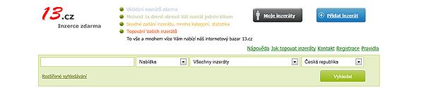 Inzertní portál 13.cz